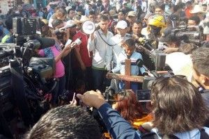 Llega caravana migrante a la Basílica de Guadalupe
