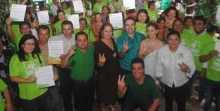 Toman protesta Comités Verdes de Solidaridad