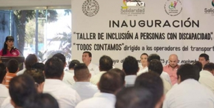 Mauricio Góngora promueve cultura de respeto para las personas con discapacidad