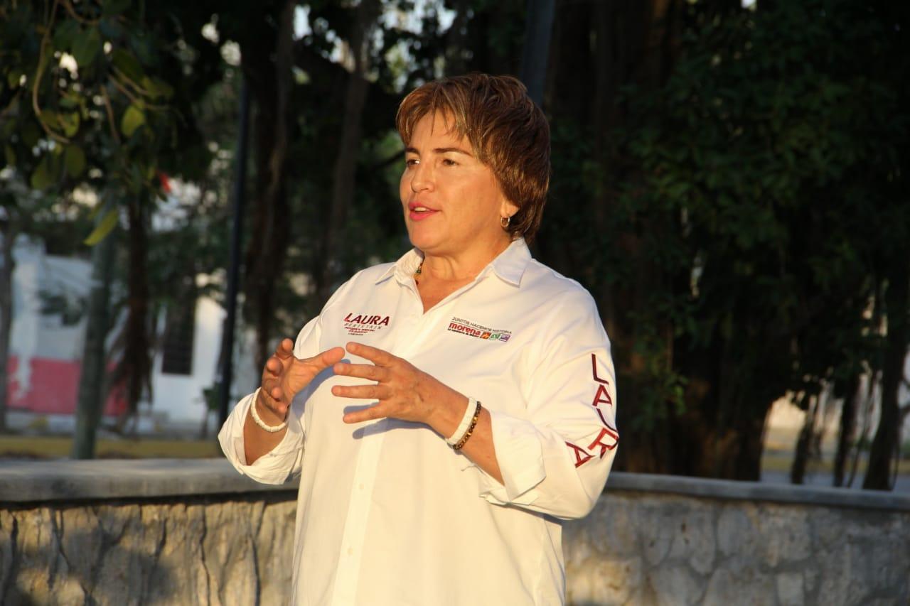 Equipar todos los parques de Solidaridad y hacerlos inclusivos para  personas con discapacidad: Laura Beristain - La Pancarta de Quintana Roo